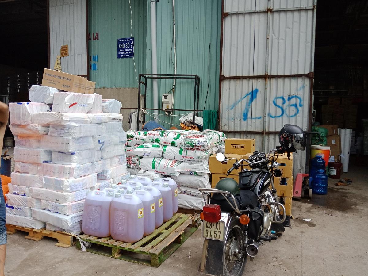 Kho trung chuyển hàng hóa đi Lào tại Gia Lai