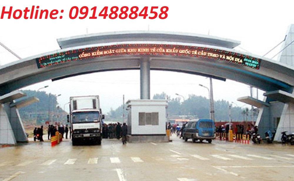 Vận chuyển thạch cao đi Lào qua cửa khẩu quốc tế Cầu Treo