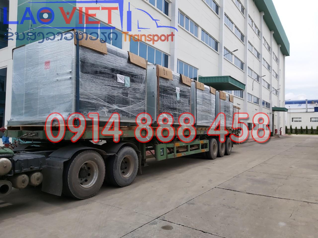 Vận chuyển vật liệu công trình đi Lào