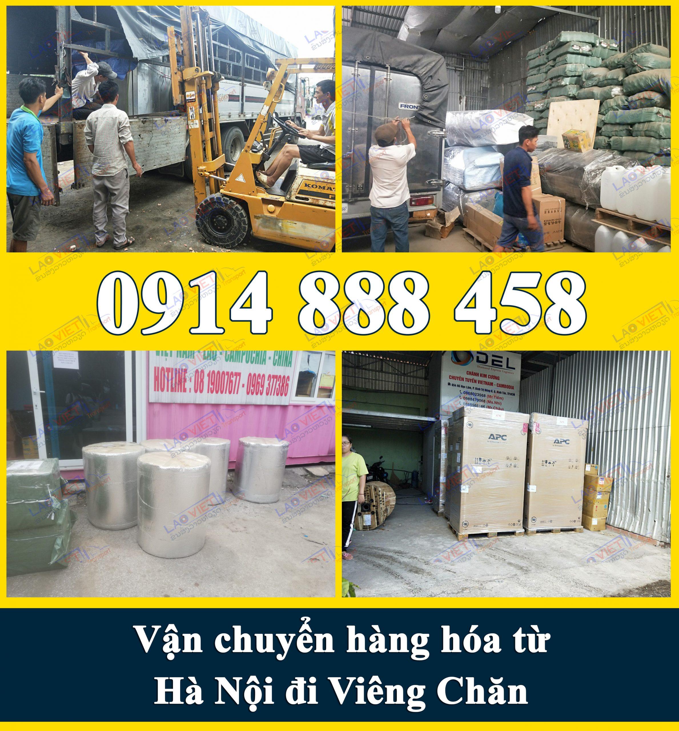 Vận chuyển hàng hóa từ Hà Nội đi Viêng Chăn giá rẻ